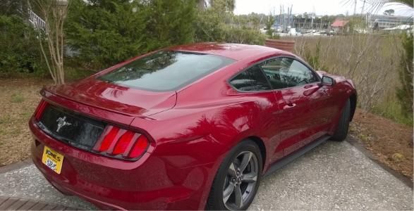 Automobiles red mustang car
